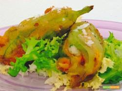 La ricetta dei fiori di zucca ripieni e fritti