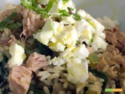 Ricetta di insalata di riso con stile greco