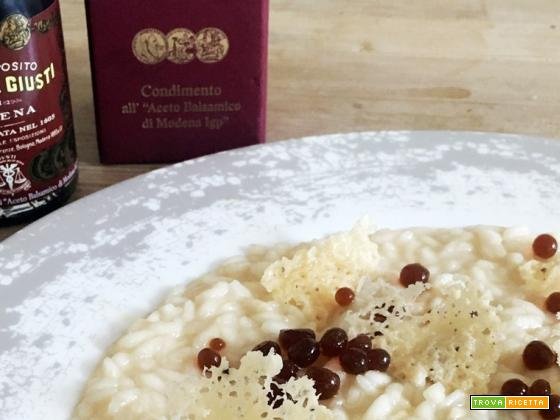 Ricetta del risotto al parmigiano regiano con aceto balsamico tradizionale di Modena
