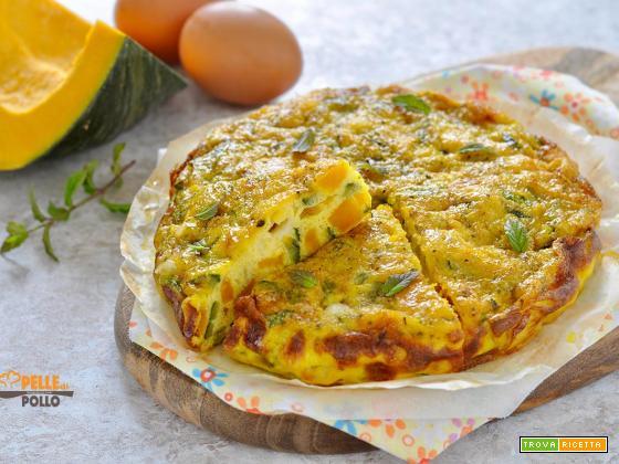 Frittata con zucca e zucchine al forno