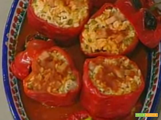 Peperoni ripieni di riso di Anna Moroni