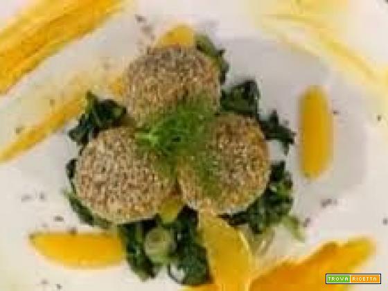 Polpette di merluzzo su catalogna all'arancia da La Prova del Cuoco