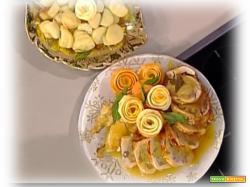 Cappone al forno con castagne e arance da La Prova del Cuoco