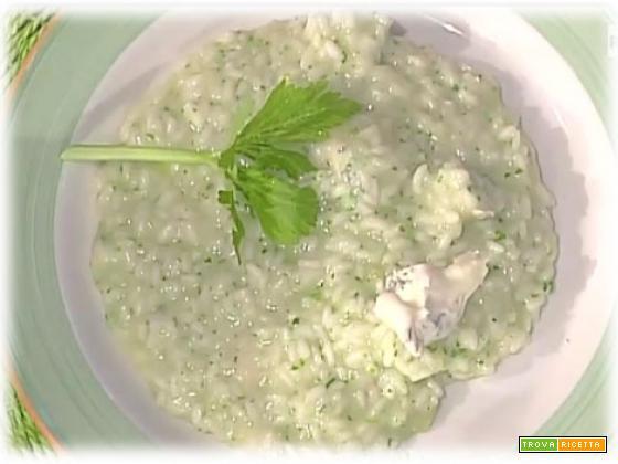 Risotto verde al sedano e gorgonzola da La Prova del Cuoco