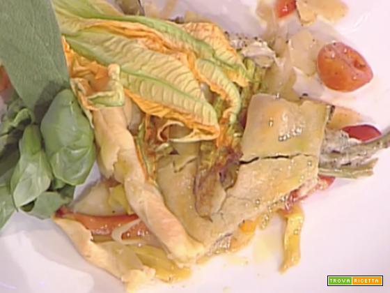 Crostata con verdure, mozzarella e alici da La Prova del Cuoco