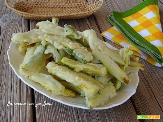 Zucchine fritte in tempura croccantissime