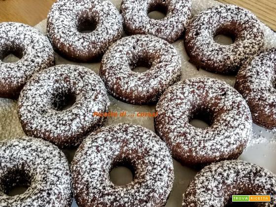 Ciambelline al finto cioccolato (vegan)