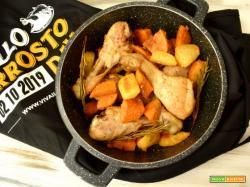 Cosce di pollo al forno con double di patate
