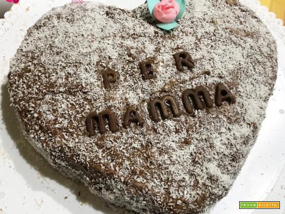 Cuore di crema pasticcera al cioccolato