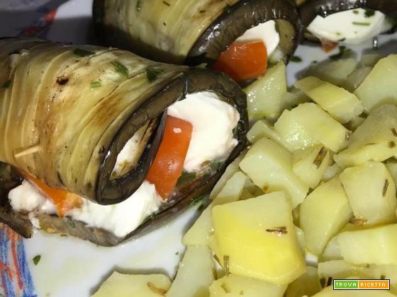 Melanzane grigliate ripiene di mozzarella