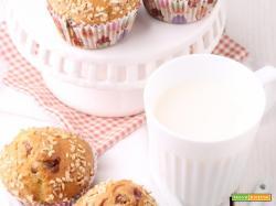 Muffin con marmellata e granella di mandorle