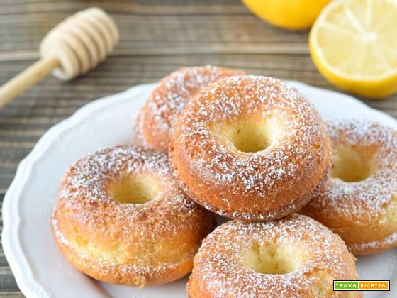 Ciambelline soffici al limone e miele