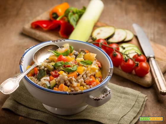 Ispirazione spagnola: paella veg con grano saraceno