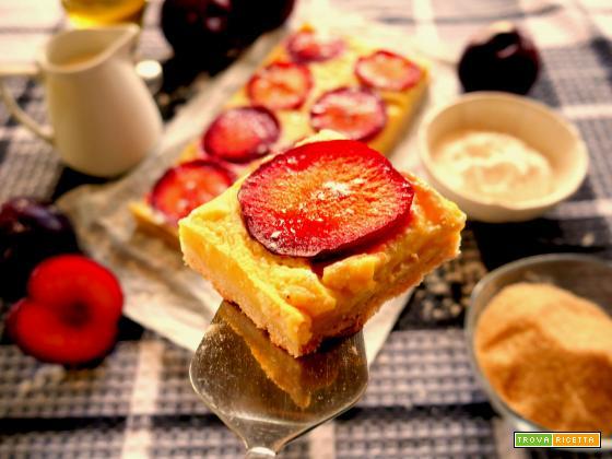 Torta con frolla e crema susine rosse … tutto vegan !