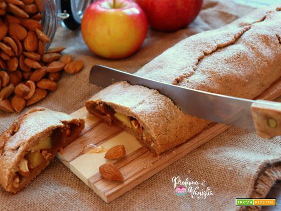 STRUDEL ALLE MANDORLE con mele e fichi caramellati