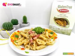 Pennette Granoro Gluten free con crema di carciofi e pancetta