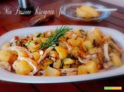 Straccetti di pollo con zucchina e patate