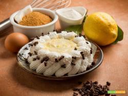 Torta di pan di spagna e crema pasticcera al fonio