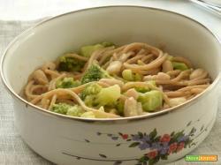 Spaghetti integrali, broccoli, cannellini e acciughe