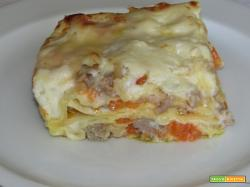 Ricetta – Lasagne al forno con zucca e salsiccia