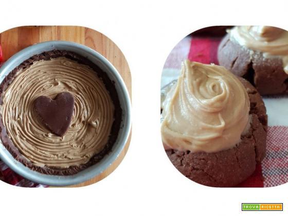 Crostata al cacao con farcitura di Nocciolata bianca