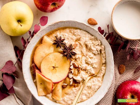 PORRIDGE alle MELE CREMOSO | Creamy APPLE PIE OATMEAL recipe