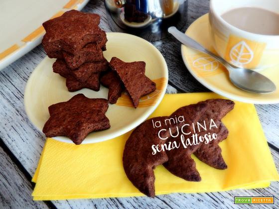 Biscotti cioccolato e cannella senza lattosio