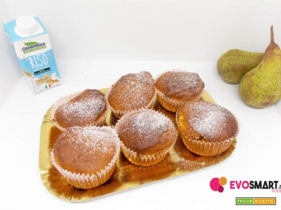 Muffin senza glutine con pera e cioccolato fondente