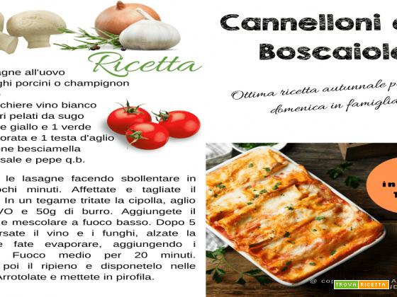 Cannelloni alla Boscaiola