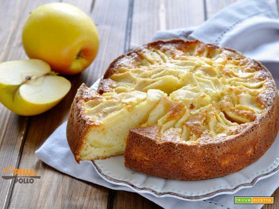 Torta di mele con succo di mela