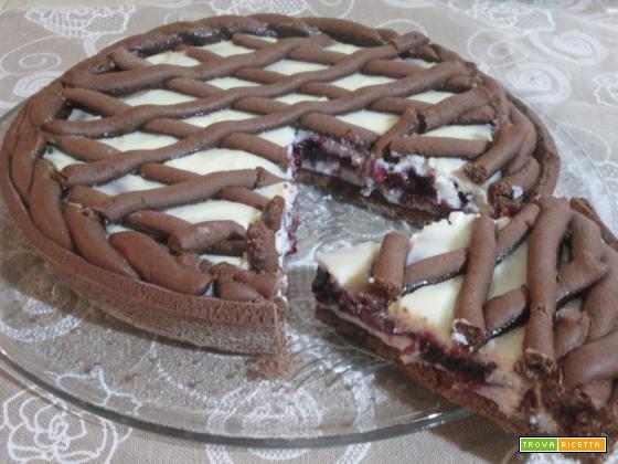 Crostata al cacao ricotta e confettura