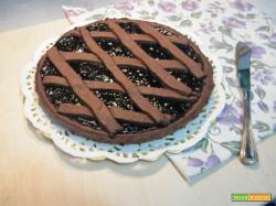 Crostata con cioccolato e confettura di mirtilli