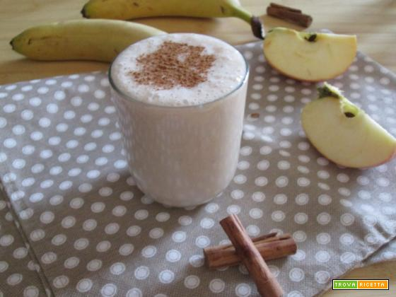 frullato di mele e banane