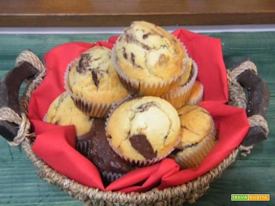 muffin cacao e vaniglia