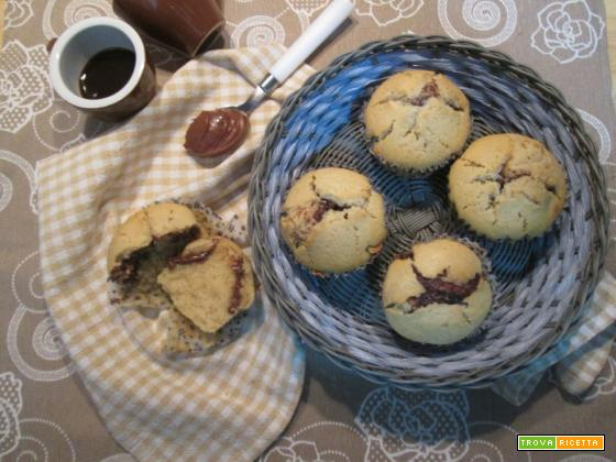 muffin caffè e nutella