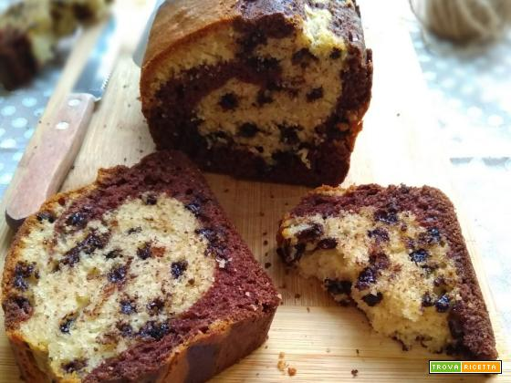 plumcake al latte cacao e vaniglia