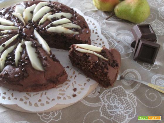 torta cioccolato ricotta e pere