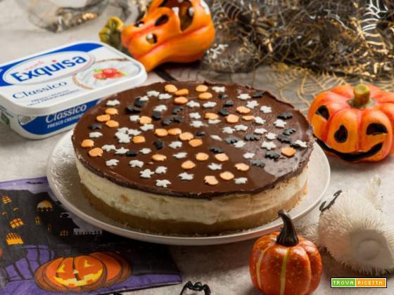 Una cheesecake con formaggio cremoso per Halloween!