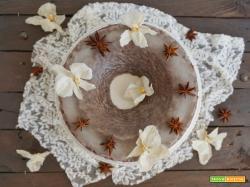 Chiffon cake al cacao e latte di mandorle