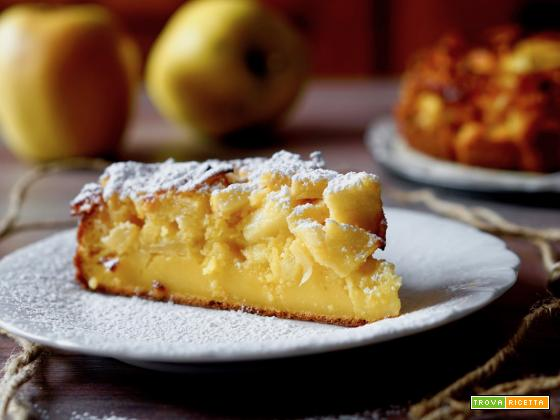 Torta Cremosa alle Mele e Arancia