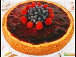 Cheesecake ai frutti di bosco cotta al forno