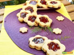 Biscotti alla marmellata con frolla ai fiocchi di latte