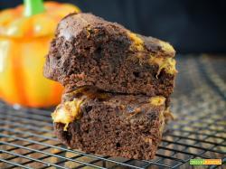 Brownies alla zucca e cioccolato (senza burro)