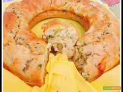 Ciambella salata broccoli e scamorza, ricetta con impasto base universale