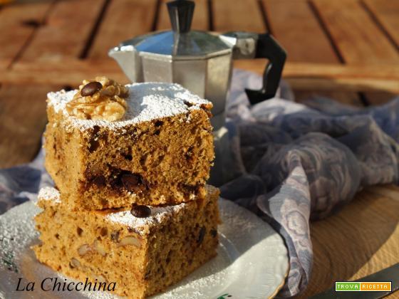 Torta con noci, caffè e cioccolato