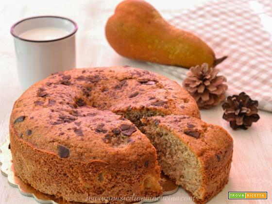 Torta integrale pere e cioccolato