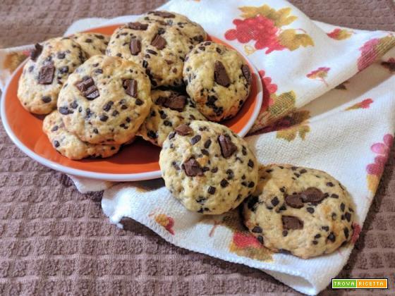 Cookies zucca e gocce di cioccolato senza uova e senza burro