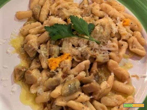 Cavatelli con carciofi, arancia e pecorino da La Prova del Cuoco