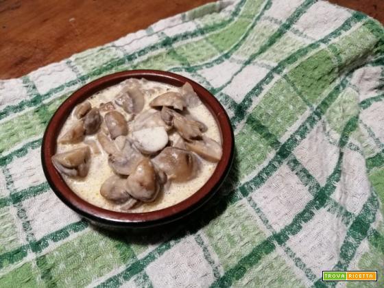 Funghi con crema al latte