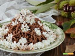 Montblanc ricetta dolce alle castagne